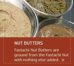 Roasted Nut Butters: Pistachio, Almond, Hazelnut, Cashew, Walnut, Peanut & Mixed Nut Butter